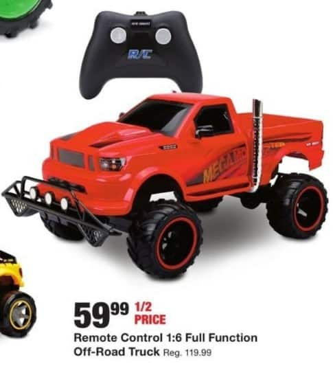 Fred Meyer Black Friday: Remote Control 1:6 Full Function Off-Road Truck for $59.99