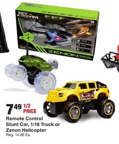 Fred Meyer Black Friday: Select Toys: Remote Control Stunt Car, Truck or Helicopter for $7.49