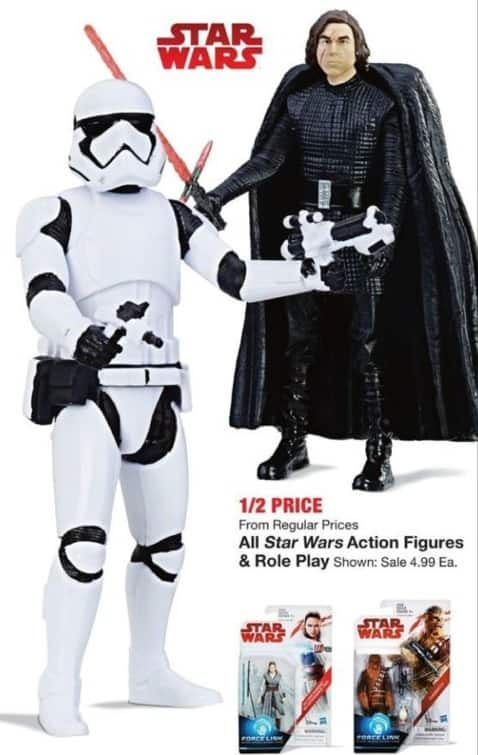 Fred Meyer Black Friday: Entire Stock Star Wars Action Figures and Role Play - 50% Off