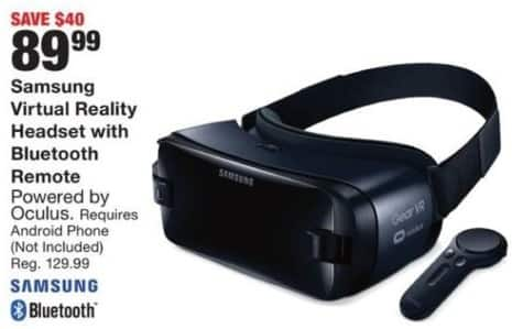 Fred Meyer Black Friday: Samsung Virtual Reality Headset w/Bluetooth Remote for $89.99