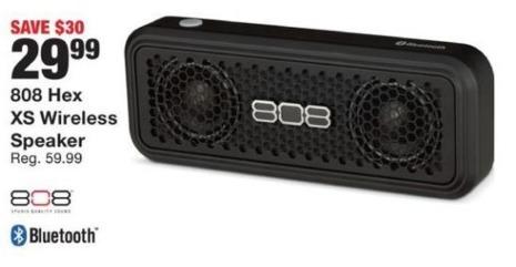 Fred Meyer Black Friday: 808 Hex XS Wireless Speaker for $29.99
