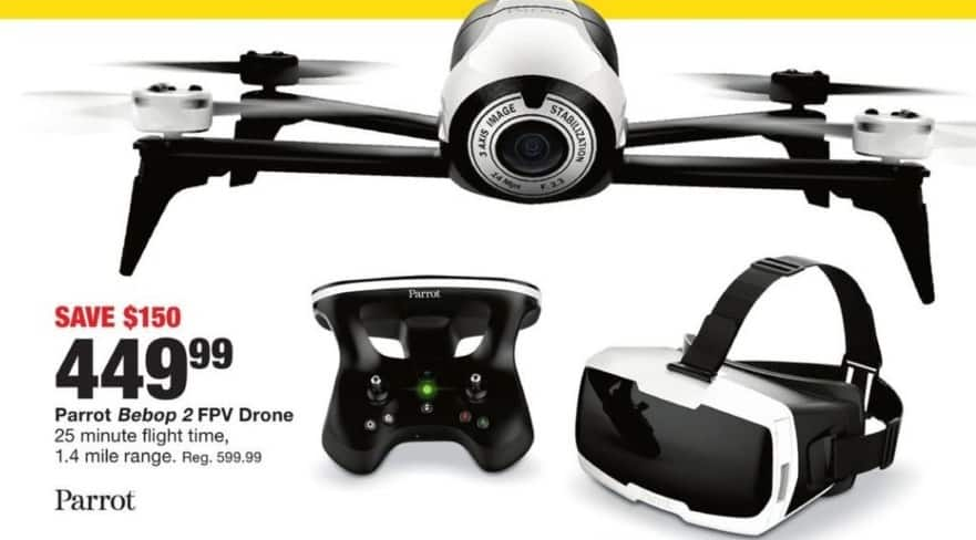 Fred Meyer Black Friday: Parrot Beboy 2 FPV Drone for $449.99