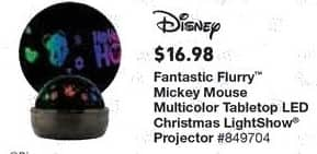 Lowe's Black Friday: Disney Fantastic Flurry Mickey Mouse Multicolor Tabletop LED Christmas LightShow Projector for $16.98
