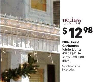 Lowe's Black Friday: Holiday Living 300-Count Christmas Icicle Lights for $12.98