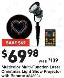 Lowe's Black Friday: Multicolor Multi-Function Laser Christmas Light Show Projector w/Remote for $69.98