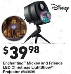 Lowe's Black Friday: Disney Enchanting Mickey and Friends LED Christmas LightShow Projector for $39.98