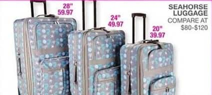 Bealls Florida Black Friday: Select Seahorse Luggage: 20, 24 or 28 in for $39.97 - $59.97