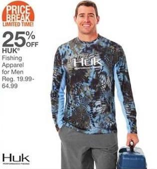Bealls Florida Black Friday: Huk Men's Fishing Apparel - 25% Off