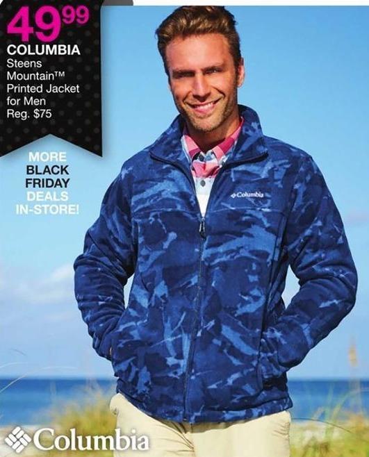 Bealls Florida Black Friday: Columbia Men's Steens Mountain Printed Jacket for $49.99
