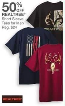 Bealls Florida Black Friday: Realtree Men's Short Sleeve Tees - 50% Off