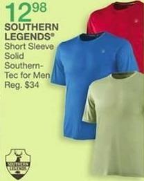 Bealls Florida Black Friday: Southern Legends Men's Short Sleeve Solid Southern-Tec for $12.98