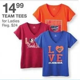Bealls Florida Black Friday: Select Ladies' Team Tees for $14.99
