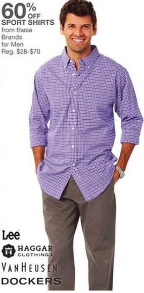 Bealls Florida Black Friday: Select Sport Shirts: Lee, Haggar, Dockers and More - 60% Off