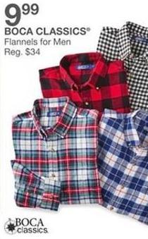 Bealls Florida Black Friday: Boca Classics Men's Flannel Shirts for $9.99
