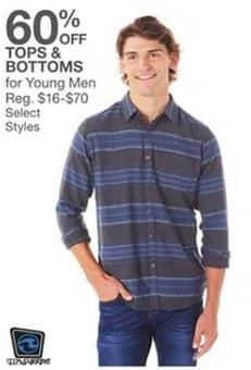 Bealls Florida Black Friday: Select Young Men's Tops and Bottoms - 60% Off