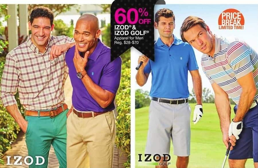Bealls Florida Black Friday: Select Izod Golf Men's Apparel - 60% Off