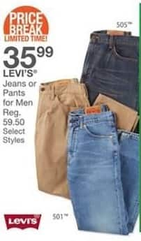 Bealls Florida Black Friday: Select Men's Levi's Jeans or Pants for $35.99