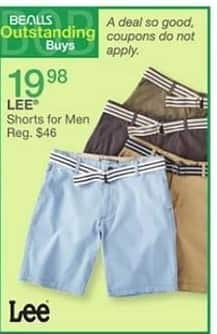 Bealls Florida Black Friday: Lee Men's Shorts for $19.98