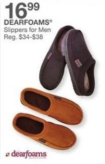 Bealls Florida Black Friday: Dearfoams Men's Slippers for $16.99
