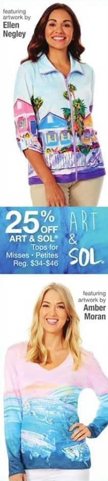 Bealls Florida Black Friday: Select Art & Sol Misses and Petites Tops - 25% Off