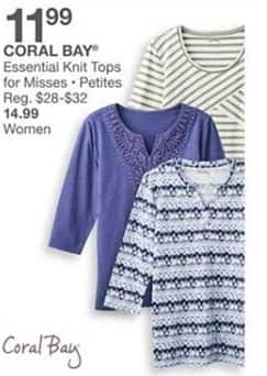 Bealls Florida Black Friday: Coral Bay Women's Essential Knit Tops for $14.99