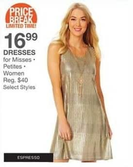 Bealls Florida Black Friday: Select Women, Misses and Petites Dresses for $16.99