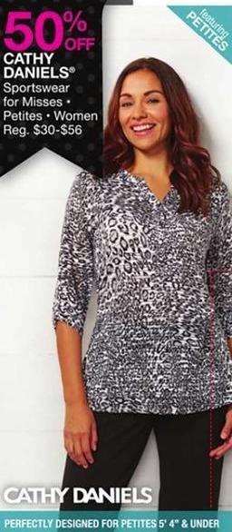 Bealls Florida Black Friday: Cathy Daniels Women, Misses and Petites Sportswear - 50% Off