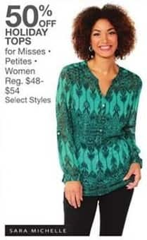 Bealls Florida Black Friday: Select Holiday Tops for Misses, Petites and Women - 50% Off