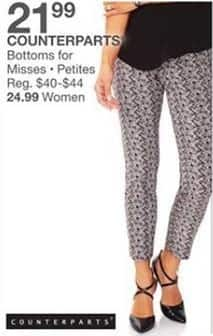 Bealls Florida Black Friday: Counterparts Bottoms for Misses or Petites for $21.99
