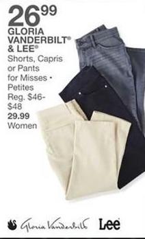 Bealls Florida Black Friday: Select Shorts, Capris or Pants for Misses or Petites: Gloria Vanderbilt and More for $26.99