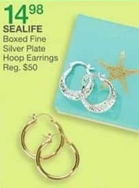 Bealls Florida Black Friday: Sealife Boxed Fine Silver Plate Hoop Earrings for $14.98