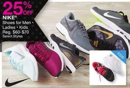 Bealls Florida Black Friday: Select Styles: Nike Men's, Ladies or Kids Shoes - 25% Off