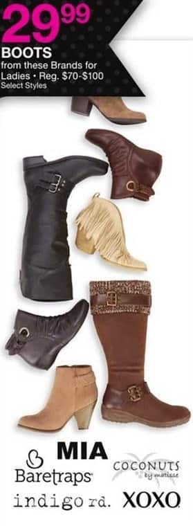 Bealls Florida Black Friday: Select Styles: Ladies Boots from MIA, Baretraps, Coconuts and More for $29.99