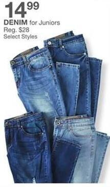 Bealls Florida Black Friday: Select Styles: Denim for Juniors for $14.99