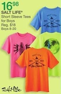 Bealls Florida Black Friday: Salt Life Short Sleeve Tees for Boys for $16.98