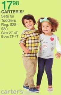 Bealls Florida Black Friday: Carter's Sets for Toddlers for $17.98