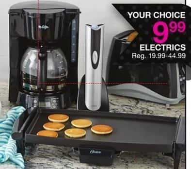 Bealls Florida Black Friday: Select Electrics: Griddle, Coffee Maker, Toaster and More for $9.99
