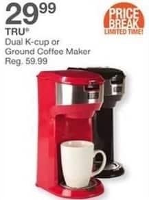 Bealls Florida Black Friday: Tru Dual K-cup or Ground Coffee Maker for $29.99