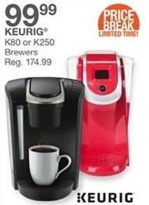 Bealls Florida Black Friday: Keurig K80 or K250 Brewers for $99.99