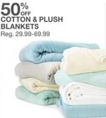 Bealls Florida Black Friday: Cotton and Plush Blankets - 50% Off