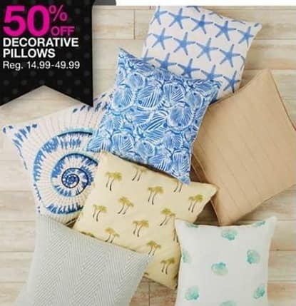 Bealls Florida Black Friday: Decorated Pillows - 50% Off