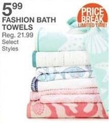 Bealls Florida Black Friday: Select Styles: Fashion Bath Towels for $5.99