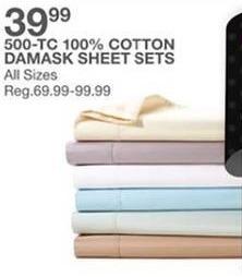 Bealls Florida Black Friday: Damask 500-TC 100% Cotton Sheet Sets for $39.99