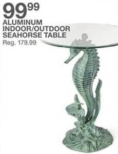 Bealls Florida Black Friday: Aluminum Indoor/Outdoor Seahorse Table for $99.99