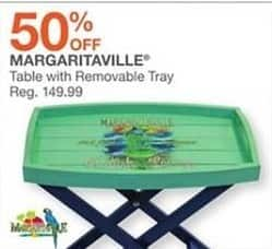 Bealls Florida Black Friday: Margaritaville Table w/Removable Tray - 50% Off