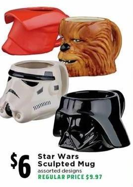 H-E-B Black Friday: Star Wars Sculpted Mug for $6.00