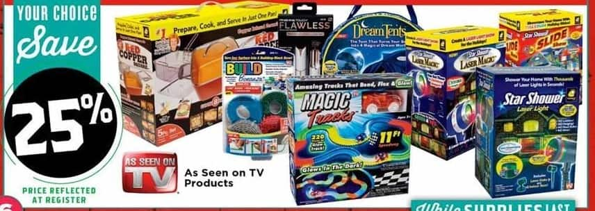 H-E-B Black Friday: Select As Seen on TV Products: Magic Tracks, Star Shower Laser Light, DreamTents or More - 25% Off