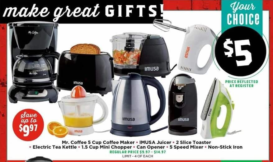 H-E-B Black Friday: Mr. Coffee 5 Cup Coffee Maker for $5.00