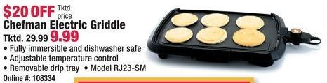 Boscov's Black Friday: Chefman RJ23-SM Electric Griddle for $9.99