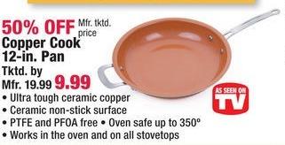 Boscov's Black Friday: Copper Cook 12 in. Pan for $9.99